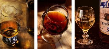 Cognac, Brandies, Rums, Gins, Tequilas