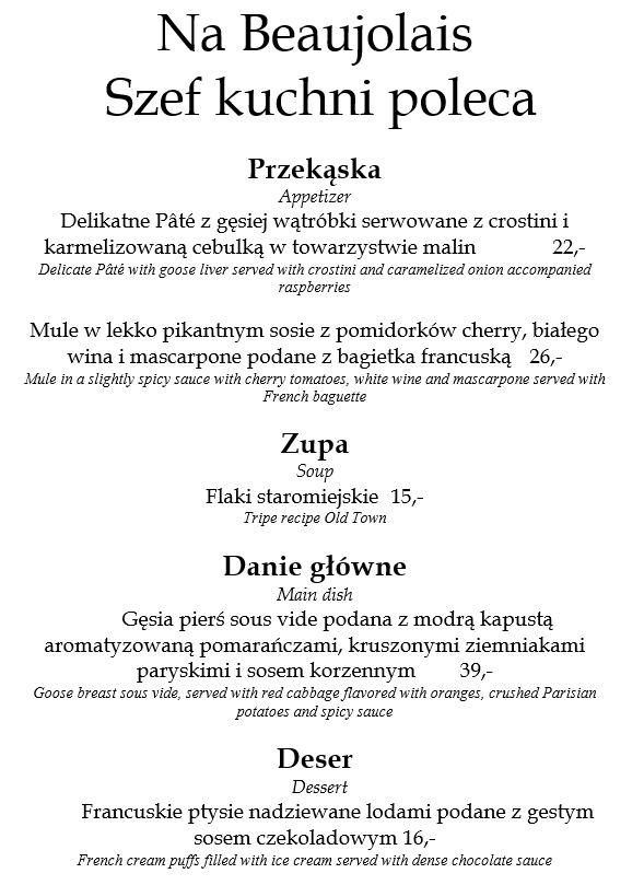 Restauracja Magia Szef Kuchni Poleca